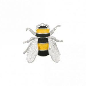 Bumblebee brooch enamelled