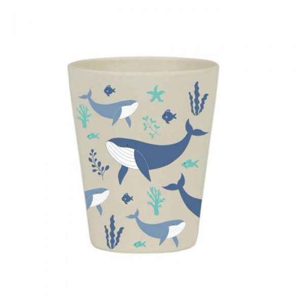 Whale bamboo cup | Homeware Gifts