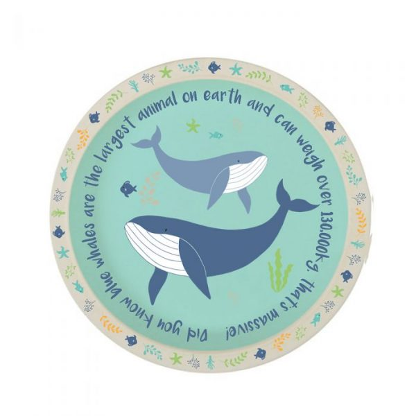 Whale bamboo plate | Homeware Gifts