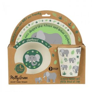 Elephant bamboo dinner set | Homeware Gifts