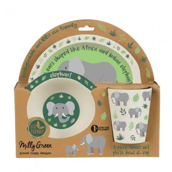 Elephant bamboo dinner set | Homeware Gifts