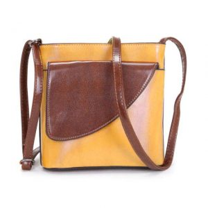 Crossbody bag yellow | Italian Leather Bags