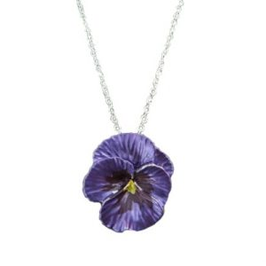 Purple pansy necklace | Silver Jewellery