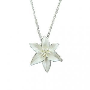 White Lily necklace | Silver Jewellery