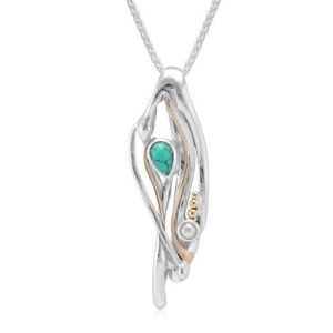 Organic silver necklace | Silver Jewellery