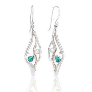 Organic silver earrings | Silver Jewellery