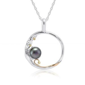 Silver and black pearl pendant | Silver Jewellery