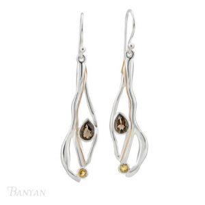 Silver fluid drop earrings | Silver Jewellery