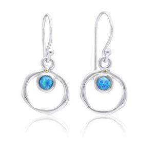 Vibrant blue opalite earrings | Silver Jewellery
