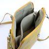 Front zip crossbody bag inner   Italian Leather Bags