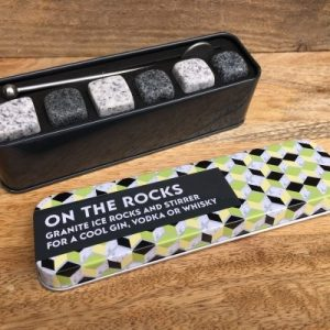 Granite Ice cubes in tin | Unusual Gifts