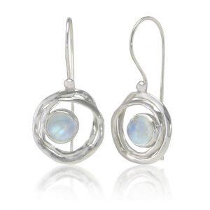 Moonstone silver earrings | Silver Jewellery