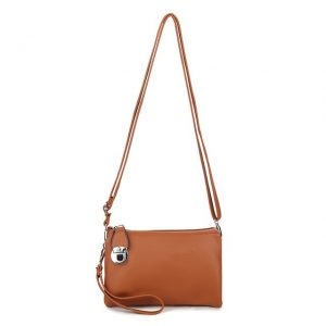 Brown Shoulder Bag | Clutch Bag