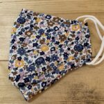 Yellow/ blue flowery face mask
