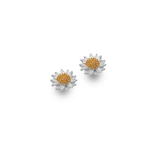 Sunflower stud earrings | Silver Jewellery
