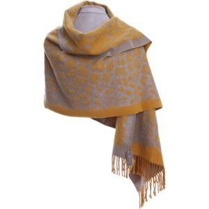 Mustard animal print Wrap   Beautiful Pashmina   Luxury Scarves   Luxury Wrap