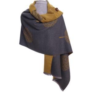 Wrap mulberry mustard   Beautiful Pashmina   Luxury Scarves   Luxury Soft Wrap