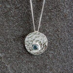 Silver topaz pendant | Silver Jewellery