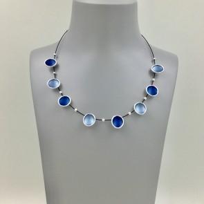 Blue enamelled necklace