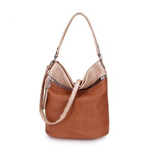 Large bucket bag brown/khaki