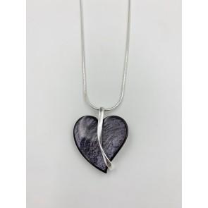 Grey heart pendant