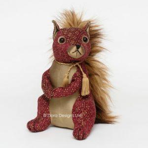 Ruby Red Squirrel Doorstop