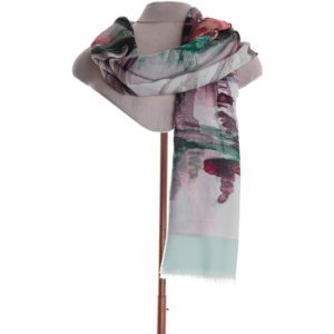 Mint abstract scarf