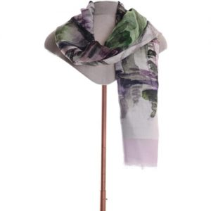 Lilac abstract scarf