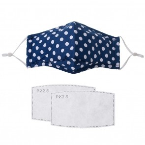 Navy spotty face mask
