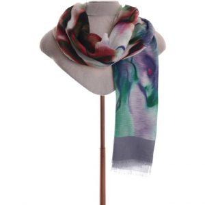 Grey/green summer scarf