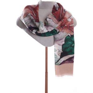 Leaf design scarf