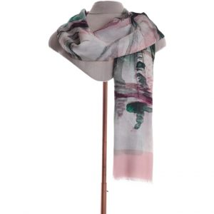 Scarf Abstract pink