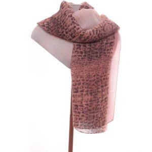 Pink animal print scarf