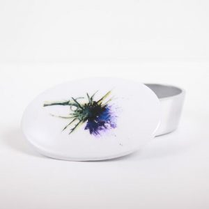 Thistle trinket box open