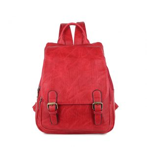 Red buckle backpack