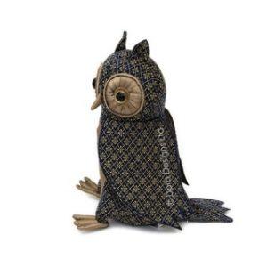 Luna Owl doorstop side