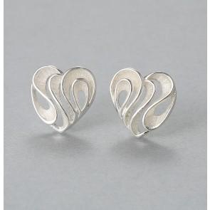 Heart swirl earrings
