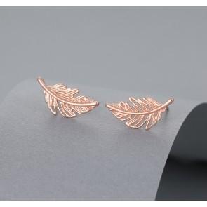 Leaf Stud earrings rose gold