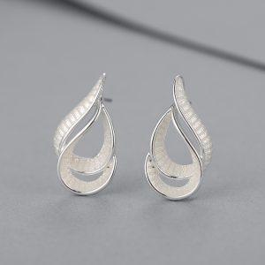 Infinity loop silver earrings