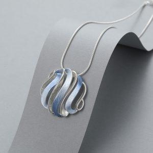 Open blue necklace