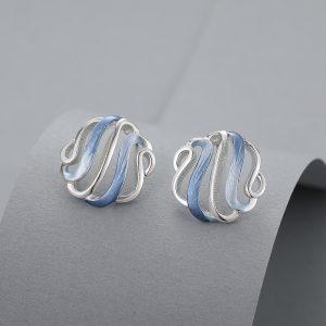 Open blue earrings