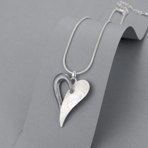 2 tone heart necklace