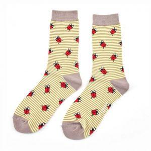 Bamboo Socks ladybird olive