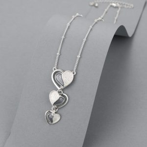 Triple heart necklace 2 tone